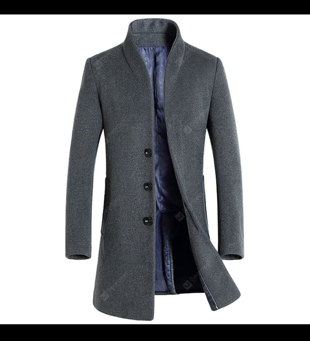Palton gri barbat