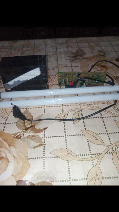 Montaj electronic 2 tub fluorescent 8watt , cu acumulator - 3 lei