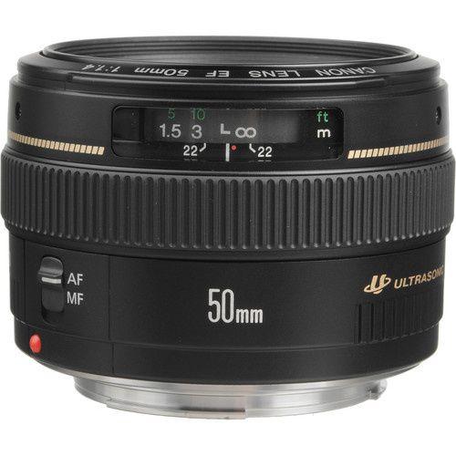 Vendo Lente Canon EF 50 mm f / 1.4 USM Nova na Caixa