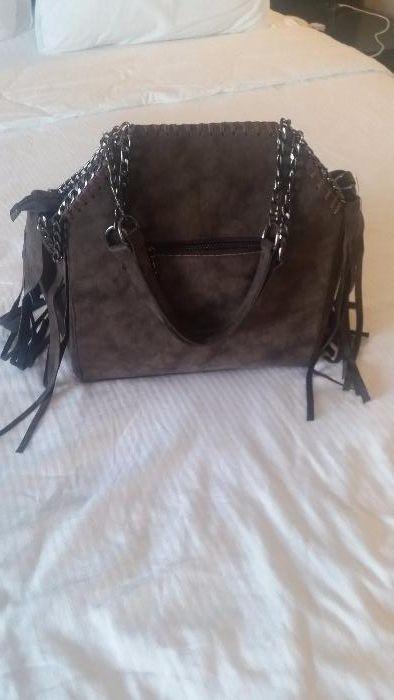 Дамска чанта елегантен модел кафяв