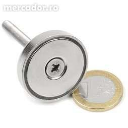 Magnet Neodim tip oala cu forta de prindere 30 Kg si D:32 mm la contac