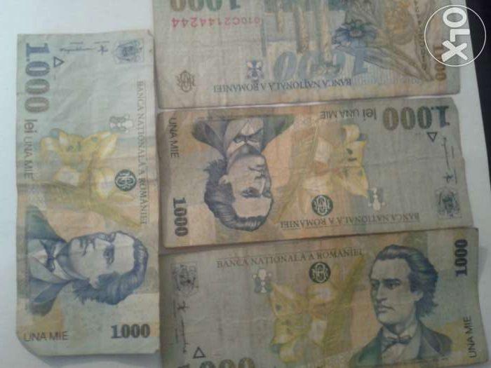 Vand bacnote de 1000 lei 1998