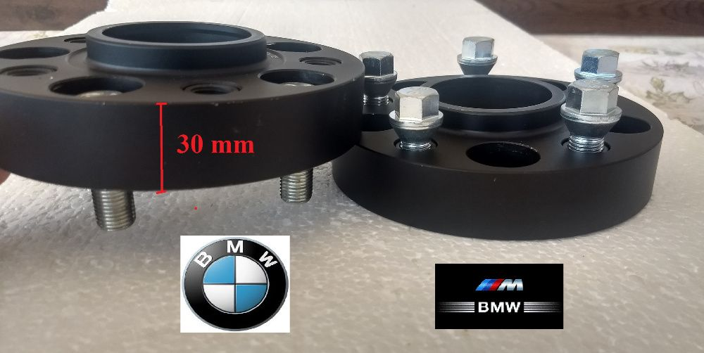 Flanse distantiere BMW 30 mm cu prindere Dubla Prezoane Incluse
