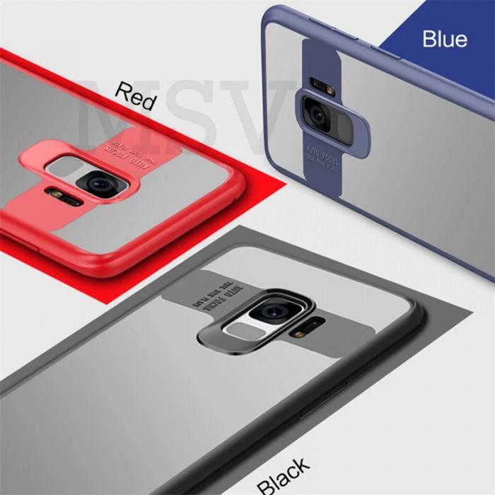 Husa / Bumper Antisoc cu protectie camera Samsung A8 (2018) / A8 Plus