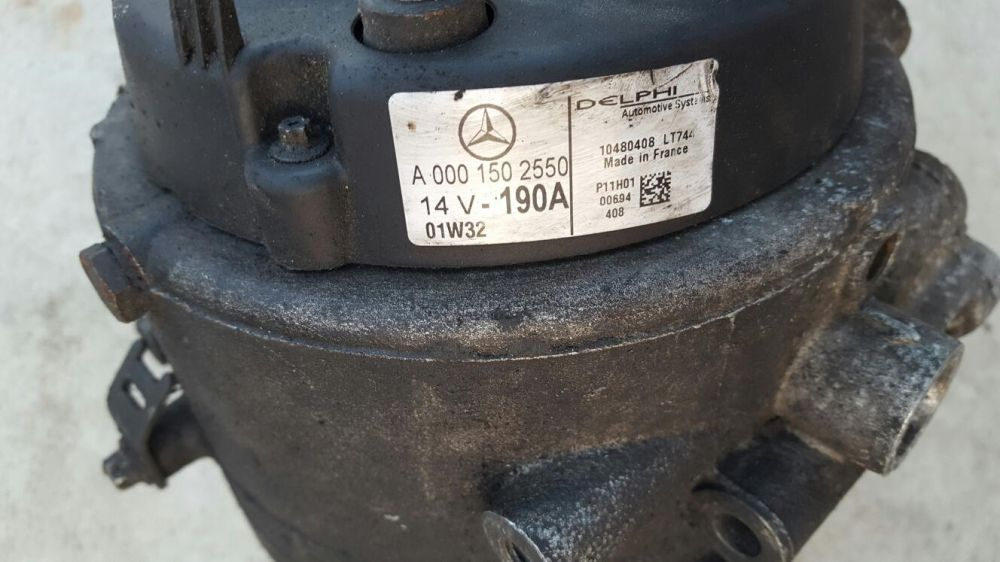 Alternator Mercedes Vito 2.2 cdi 190amperi