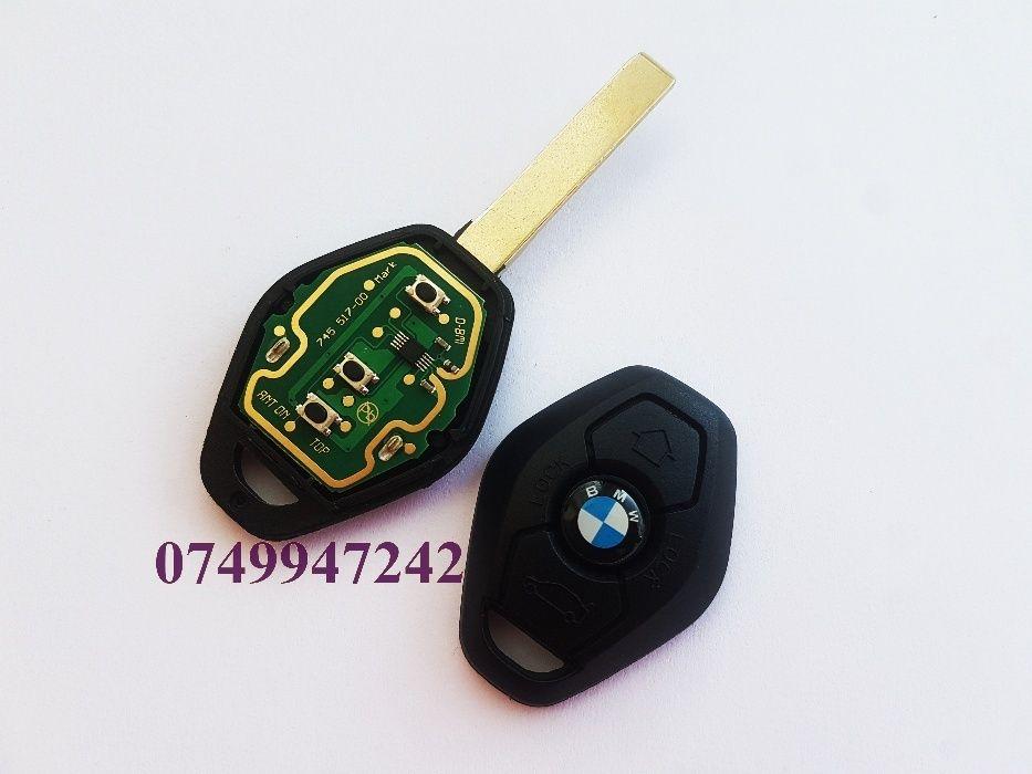 Cheie diamant logo BMW E46 E39 E60 blank cu cip si circuit 433 315 MHz