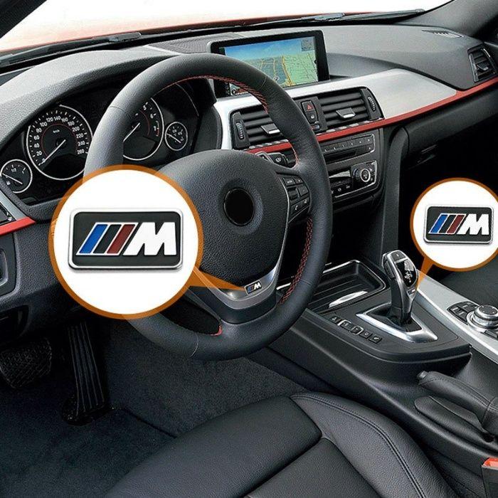 "Стикер за волан и джанти ""M power"" за БМВ - комплект 10 броя."