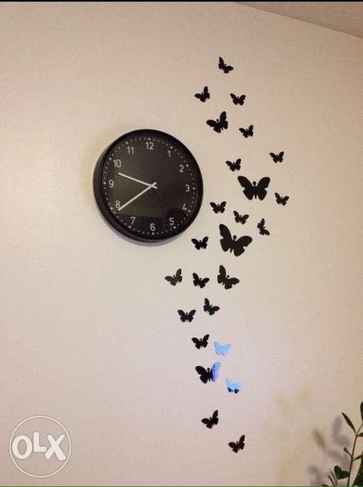 Stikere-Fluturi decorativi cu efect de oglinda,aurii,argintii si negri