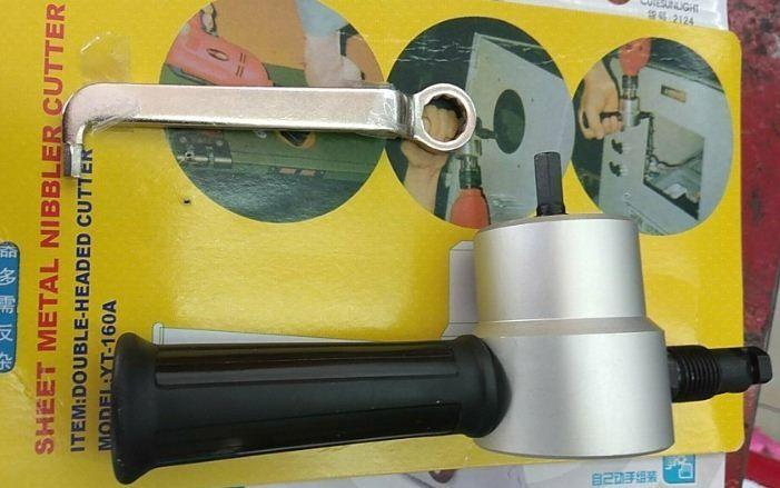 Щанцова ножица за рязане на ламарина-приставка