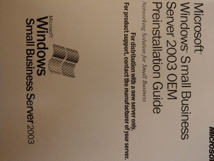 Vând pachet Windows small business server 2003 OEM sigilat