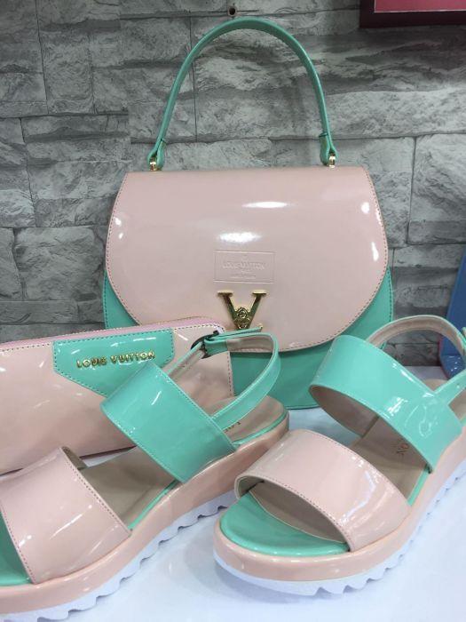 Set Louis Vuitton geanta+sandale+portofel reducere%%% 200 lei