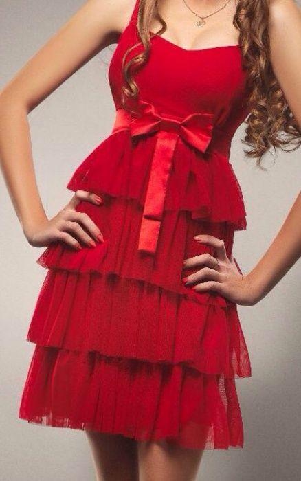 Коктейльное красное платье !