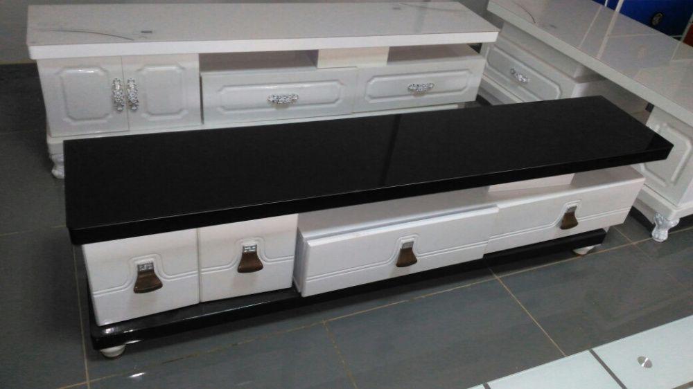 Conjunto mesa de centro e racker produto novo com entrega e montagem