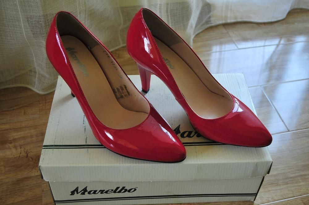 Pantofi piele Marelbo lac rosu NOI