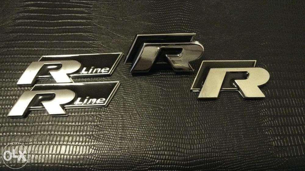 Set Emblema R-line VW Passat/Golf/Tiguan/Polo/Tuareg