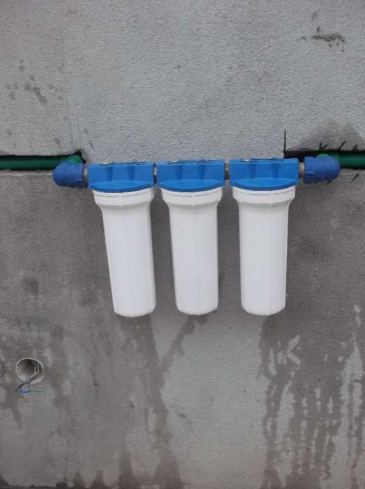 Instalação de filtros, eletrobombas, tubagem, aplicação de loiças