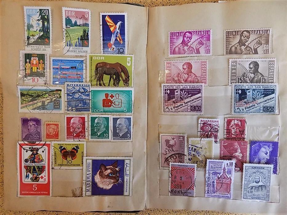 Лот от 139 Пощенски марки - богата колекция