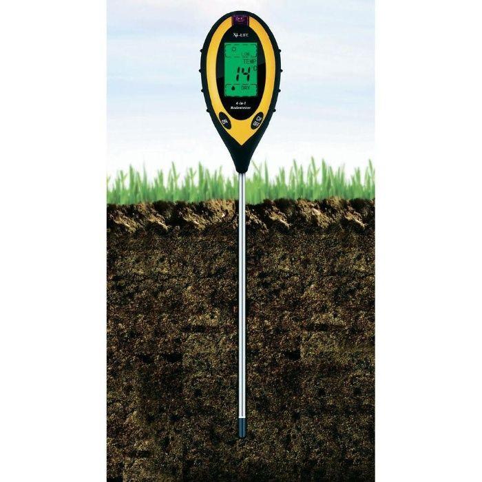 Дигитален почвен тестер 4 в 1 X4-Life, LCD дисплей за рН, влага, освет