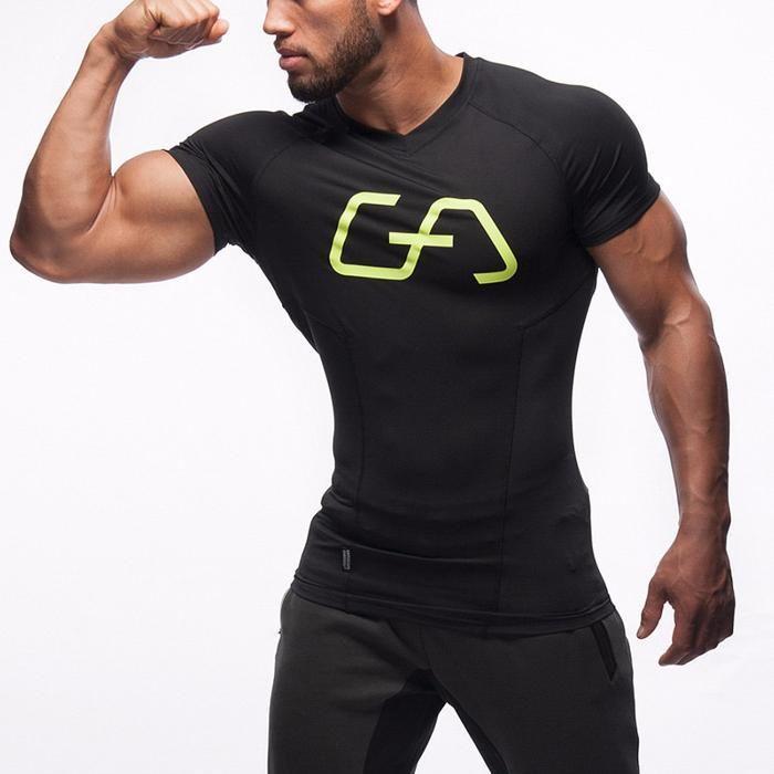 Спортни мъжки фитнес тениски Gym Aesthetics ЧЕРНА
