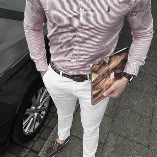 Slim fit white jeans Pull&Bear