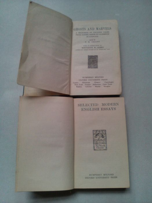 2 бр. Книги Издание на Оксфорд Oxford 1924 г.
