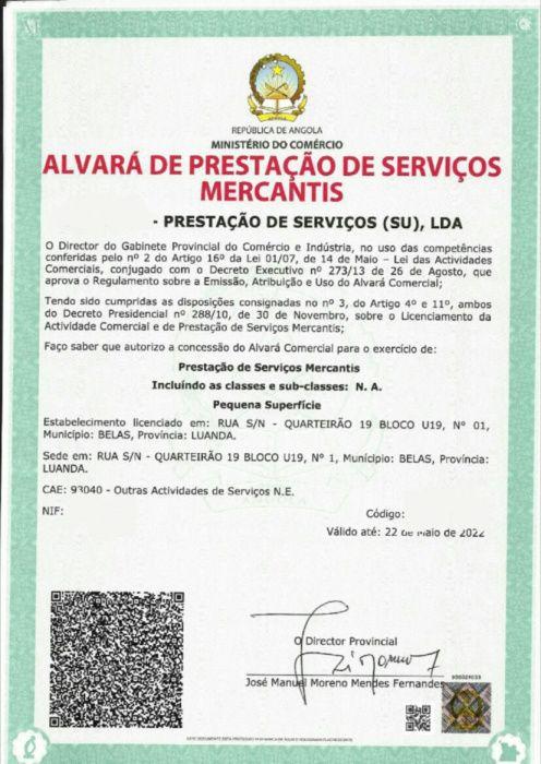 Alvara Para sua Oficina/Escritório/Caichilharia/etc..