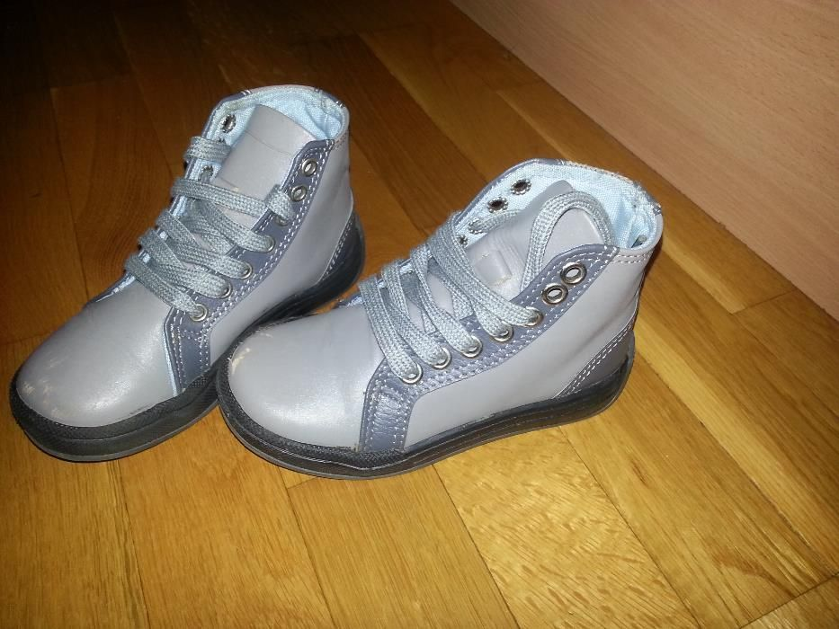 26 номер - Сиви кожени обувки