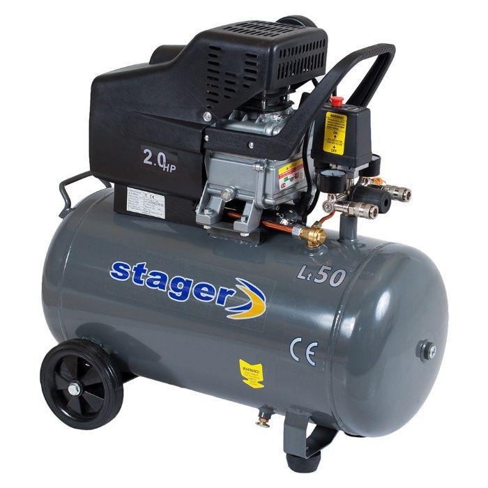 Compresor Stager HM2050B/50 1.5KW; 200L/min; Rezervor 50L. Mogosoaia - imagine 1