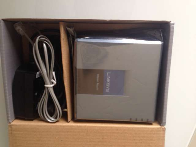 Linksys PAP2T Internet Phone Adapter with 2 port Voice-Over-IP