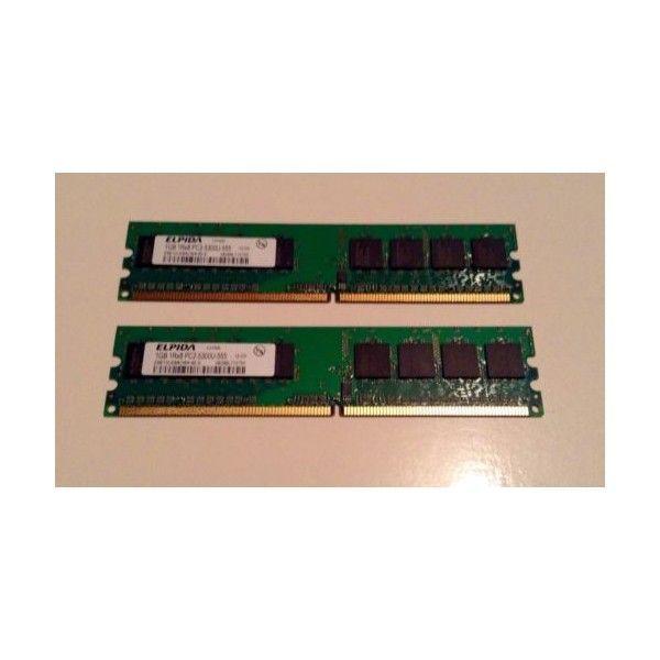 kit memorie desktop 2 gb ( 2x1 gb ) ddr2 elpida 800 mhz pc2-5300