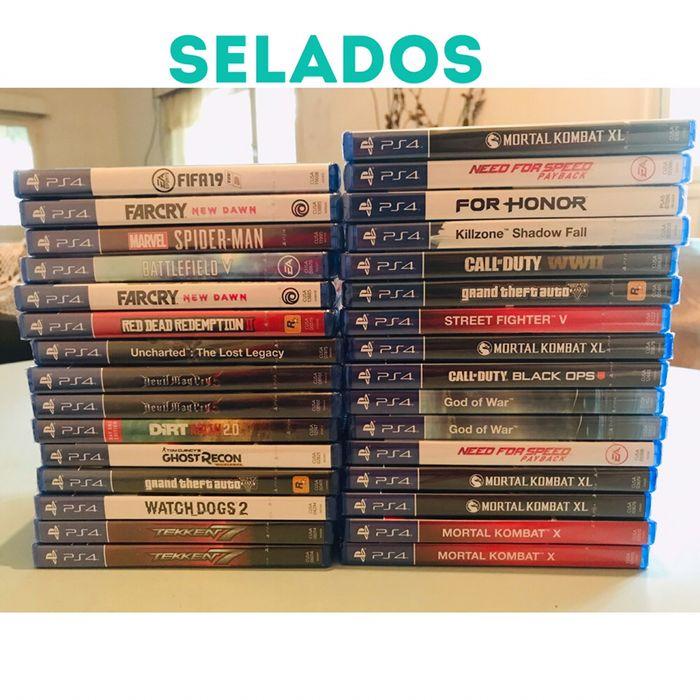 Jogos de ps4 selados e semi novo