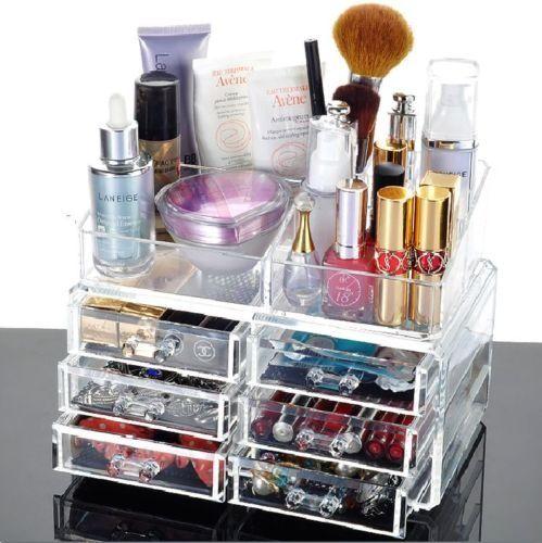 Organizator dulapior cosmetice bijuterii 16 compartimente + 6 sertare