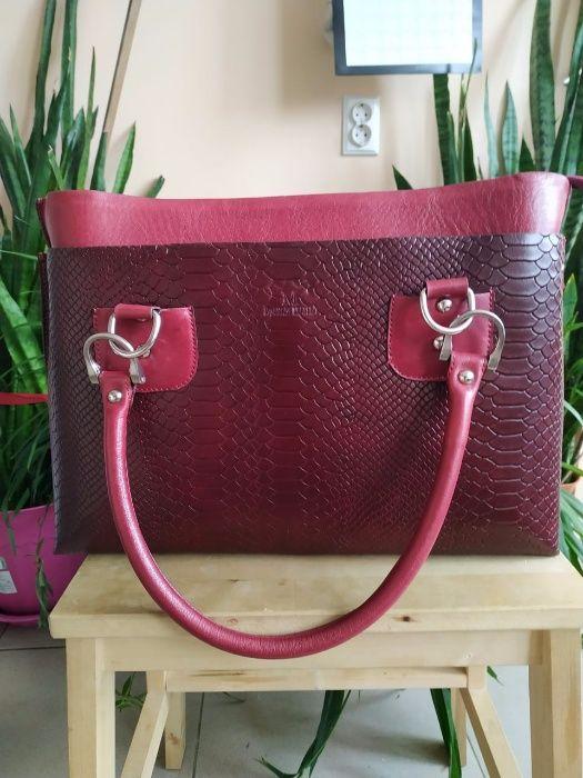 сумка женская кожаная 39х27 см
