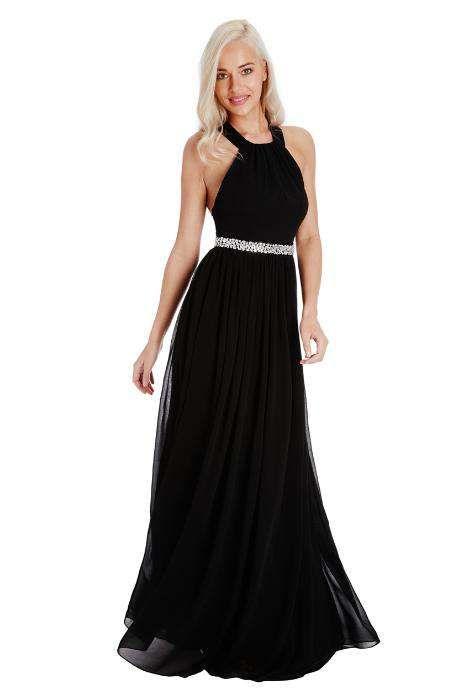 Rochie eleganta din voal, neagra, lunga