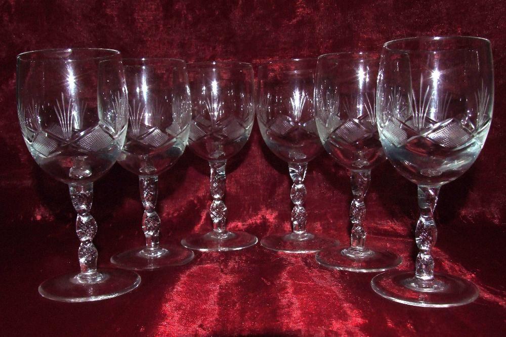6 pahare din cristal pt. vin/sampanie, made in Germany, INCANTATOARE !