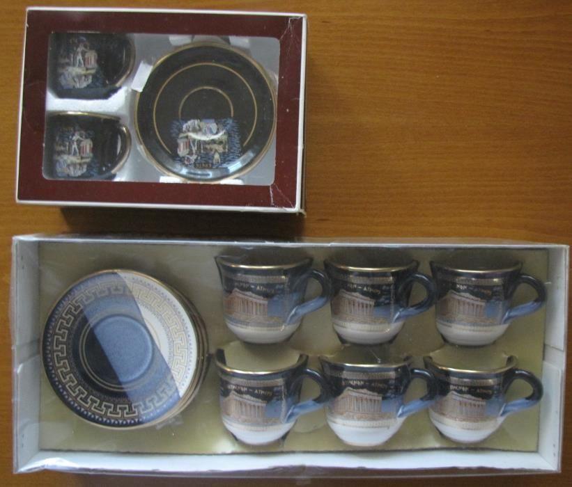 Корейски маски (Korean masks);Гръцки позлатени чаши за кафе,чай;Чинии