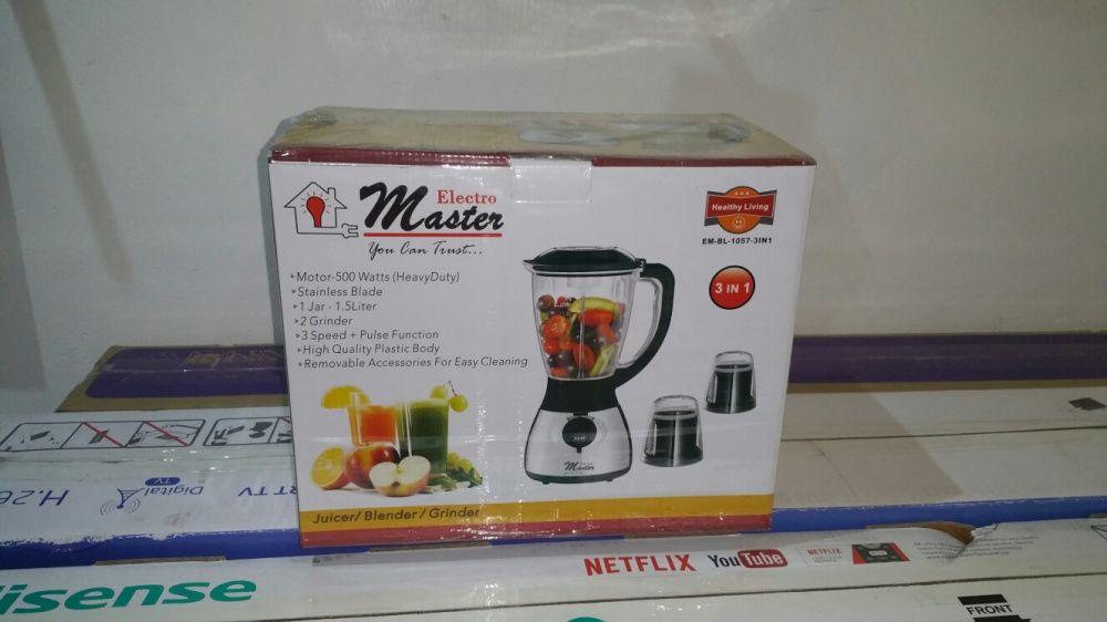 Liquidificador Master 1.5L novos na caixa