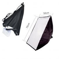 Kit lampa cu 1 soclu E27 si softbox, pt foto produs, videochat, studio