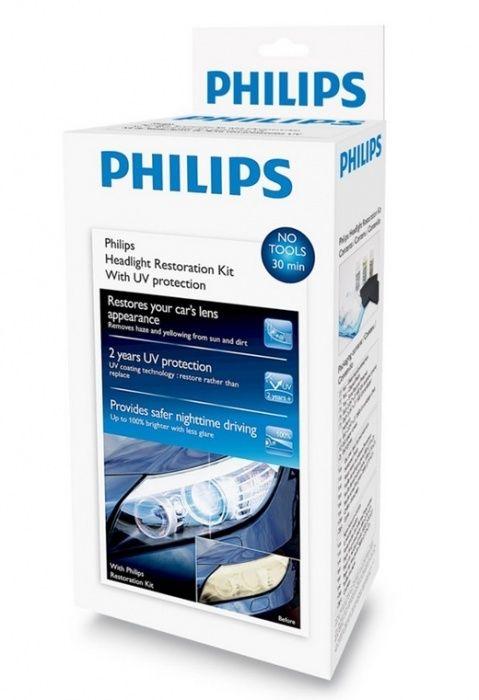 К-т за полиране на фарове PHILIPS, UV защита