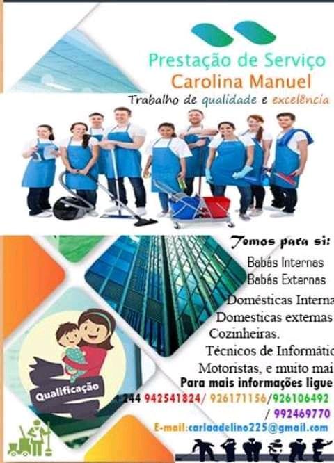Agência Carolina-Prestamos serviços de babas e Domésticas Ligue