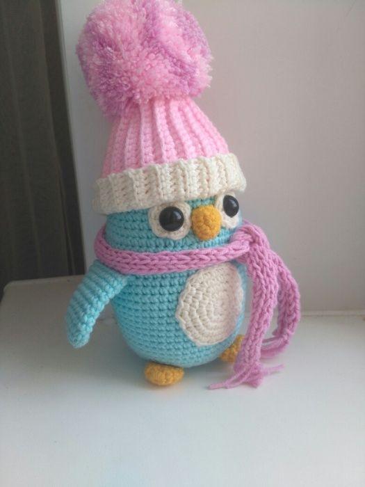 Милый вязаный пингвин