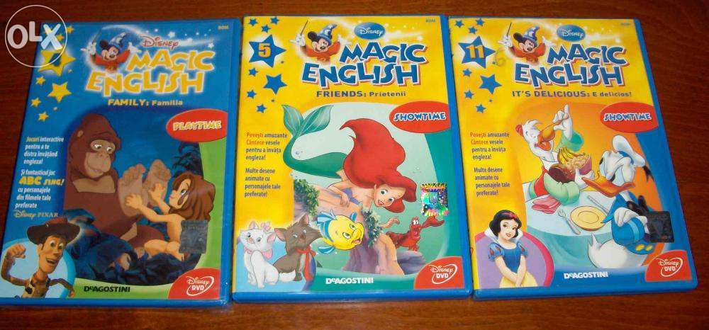 DVD-uri Magic English, engleza pentru copii