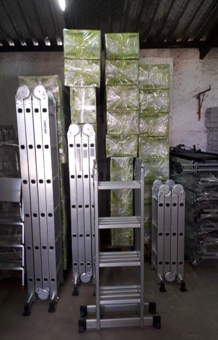 Escadotes articulados em alumínio alta qualidade modelo KMP404B