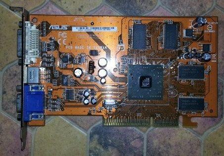 АGP видеокарти - Asus A9550, Gigabyte 9250 нископрофилна, ATI Rage 128