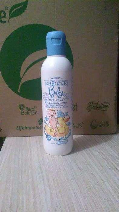 Sampon si gel de dus pentru bebelusi cu aloe vera si plante BIO Kräute