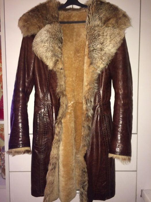 Дубленка натуральная пальто куртка ,мех,кожа (Италия)