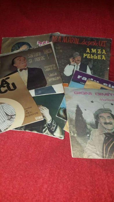Colectie vinyl cu muzica populara si artisti renumiti de comedie