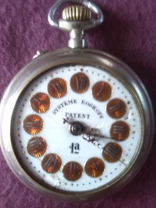 Vand ceas vechi de buzunar Elvetian marca SYSTEME ROSKOPF PATENT