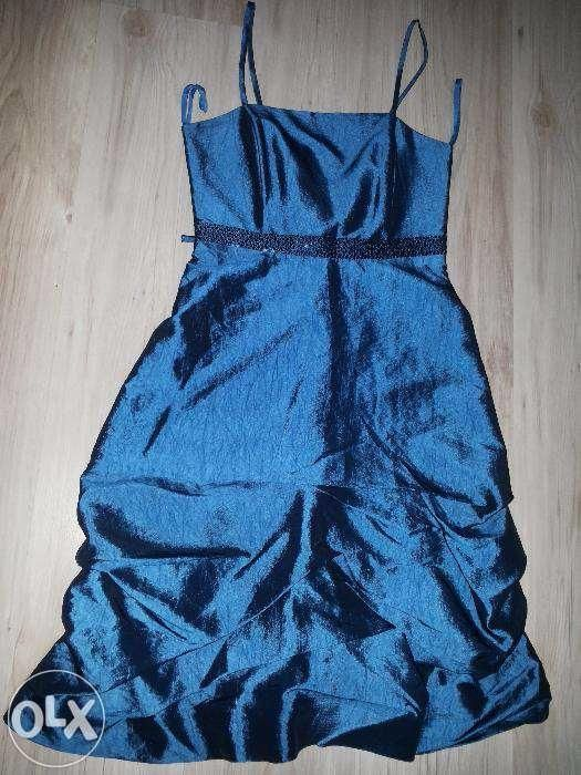 Rochie de ocazie din tafta culoarea albastru marimea 34