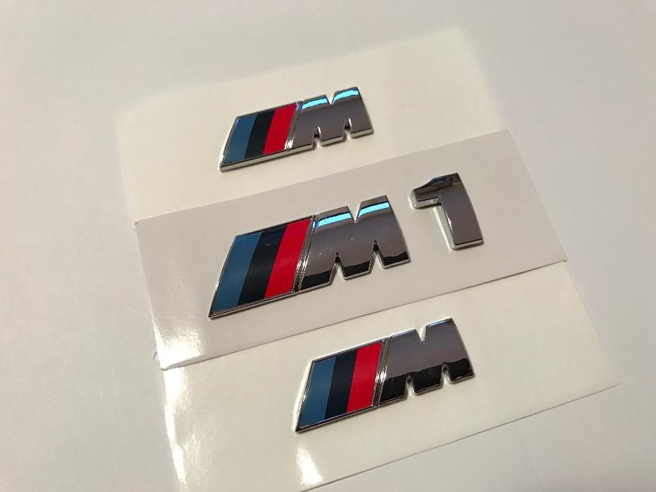 Set Emblema BMW M1 aripi/spate abs originale crom